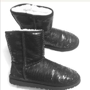 UGG Black Sequin Boots 👢